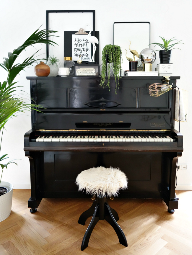 Wohnideen Pimp Your Home look pimp your room jungle plants words piano