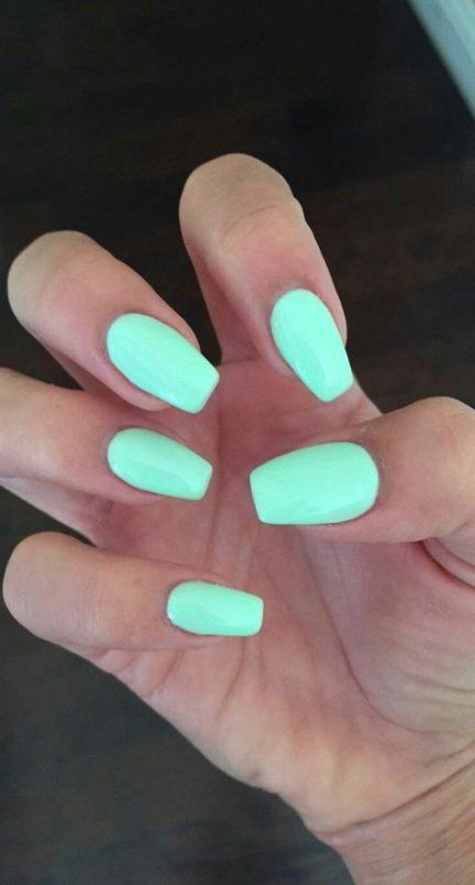 55 ideas nails matte mint shape #nails nagel lakken 55  ideas nails matte mint s…