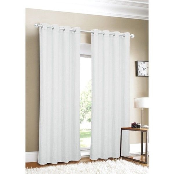 white curtain panels. Luxury Linen Grommet Top 96-inch White Curtain Panel - Overstock™ Shopping Great Deals On Curtains Panels