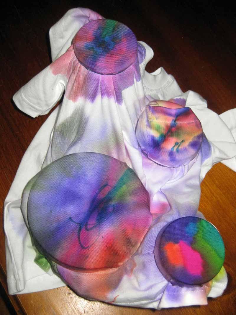 Happy whimsical hearts tie dye marker style tie dye