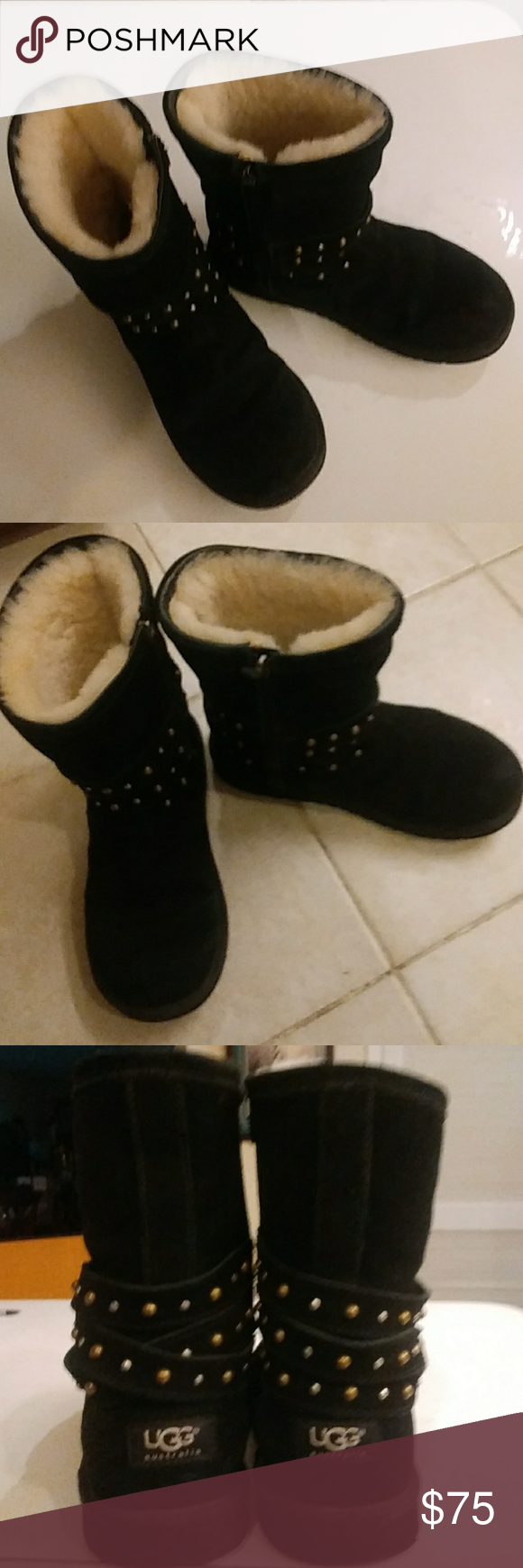 Photo of Ugg Boots Lightly used great condition gold and silver studs selling for a frien…