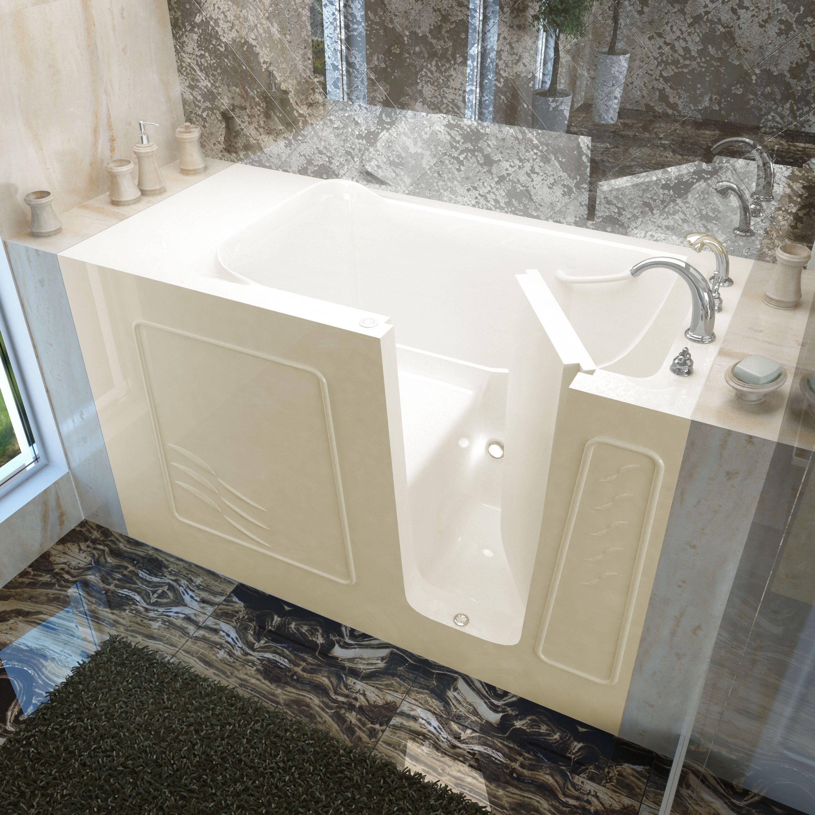 MediTub 30x60-inch Right Drain Biscuit Soaking Walk-In Bathtub ...