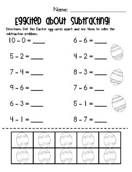 2 For 8 Pages Of Subtraction Worksheets With Counters March Themed No Prep Required Great For Morning Work Subtraction Worksheets Subtraction Teaching Math