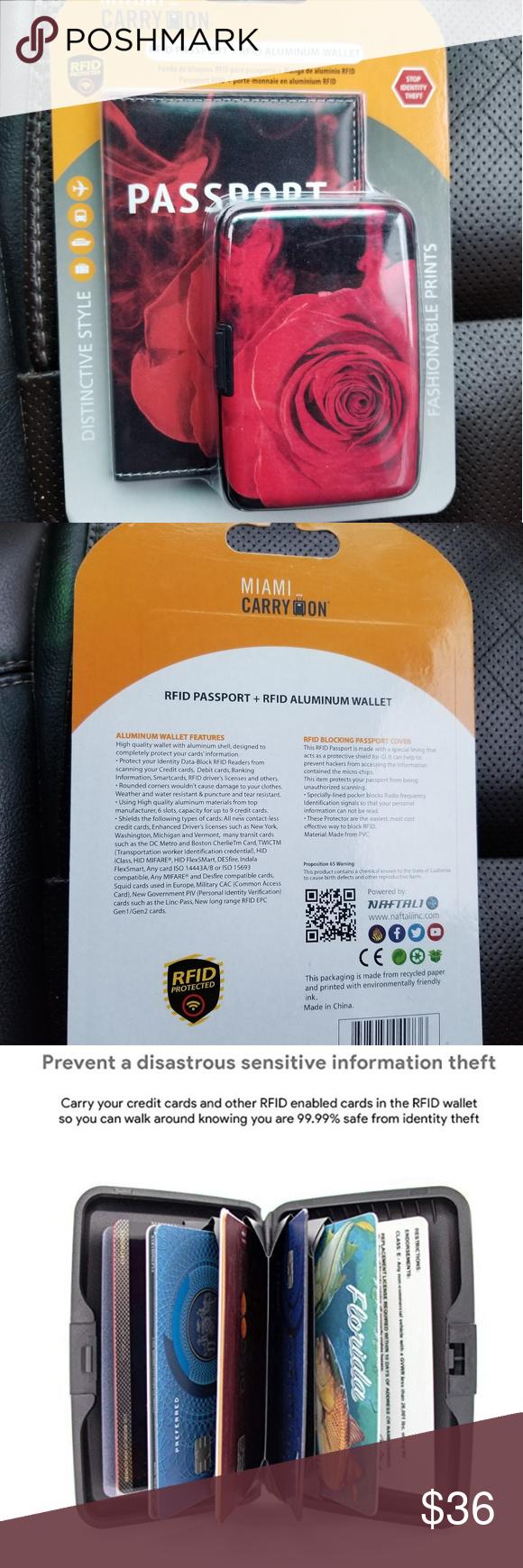 Holiday Travel RFID Passport + RFID Wallet Set (BRAND NEW