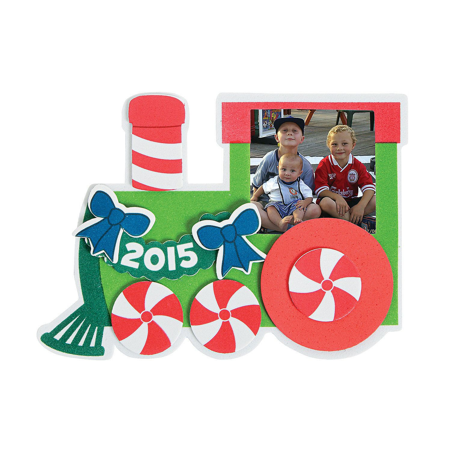 2015+Christmas+Train+Picture+Frame+Magnet+Craft+Kit+