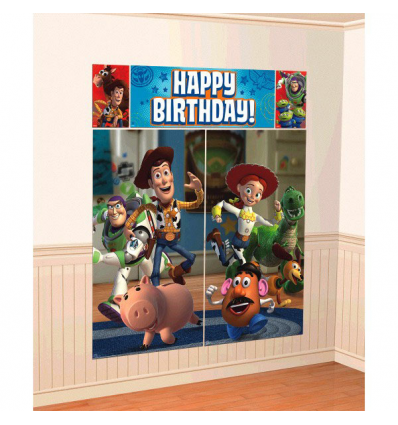 Toy Story Scene Setter Wall Decorating Kit Party Themes and Decorations   Party Corner #ToyStory3 #PartyCorner