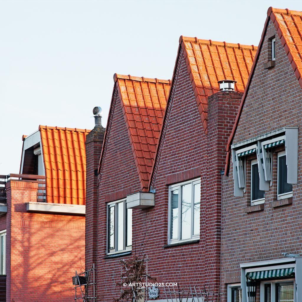 #Dutch houses in early morning light #breda #belcrum traditional #architecture 1930-1940 #ikzieikzie © www.artstudio23.com