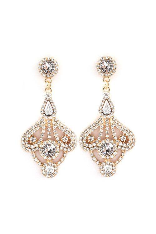 Leigh Chandelier Earrings in Gold//   <Jewelry>   Pinterest ...