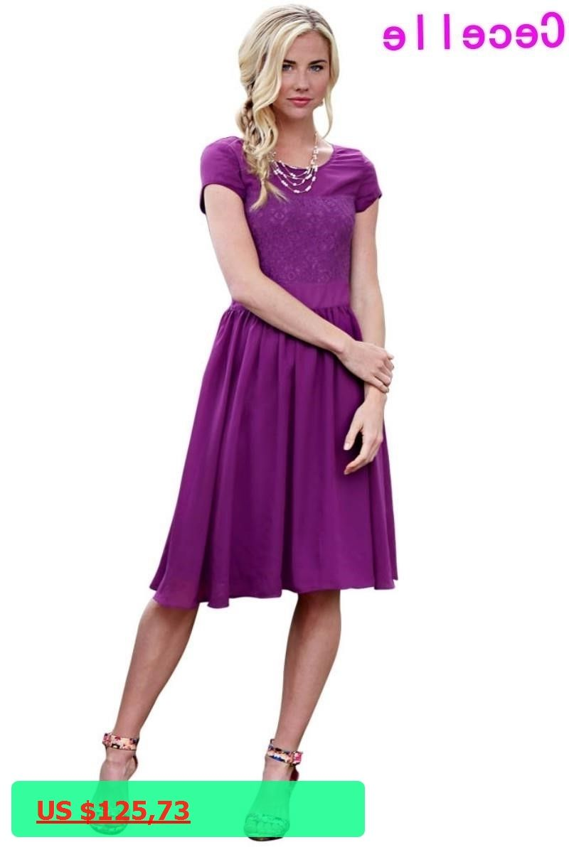 Purple chiffon modest bridesmaid dresses with cap sleeves knee purple chiffon modest bridesmaid dresses with cap sleeves knee length summer beach boho wedding party gowns ombrellifo Gallery