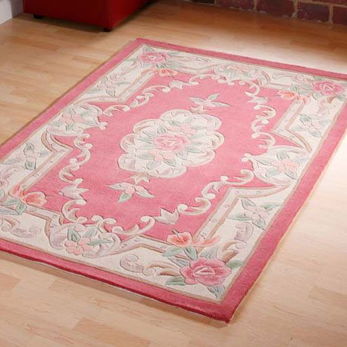 Tientsin Chinese Aubusson Wool Rugs In Pink