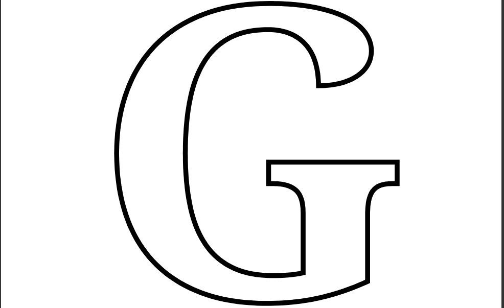 Bubble Letter Capital G 7 best images of large printable
