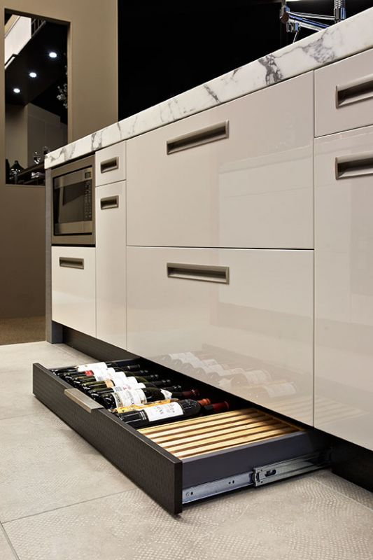 Kicker drawers are a great way to maximise space.