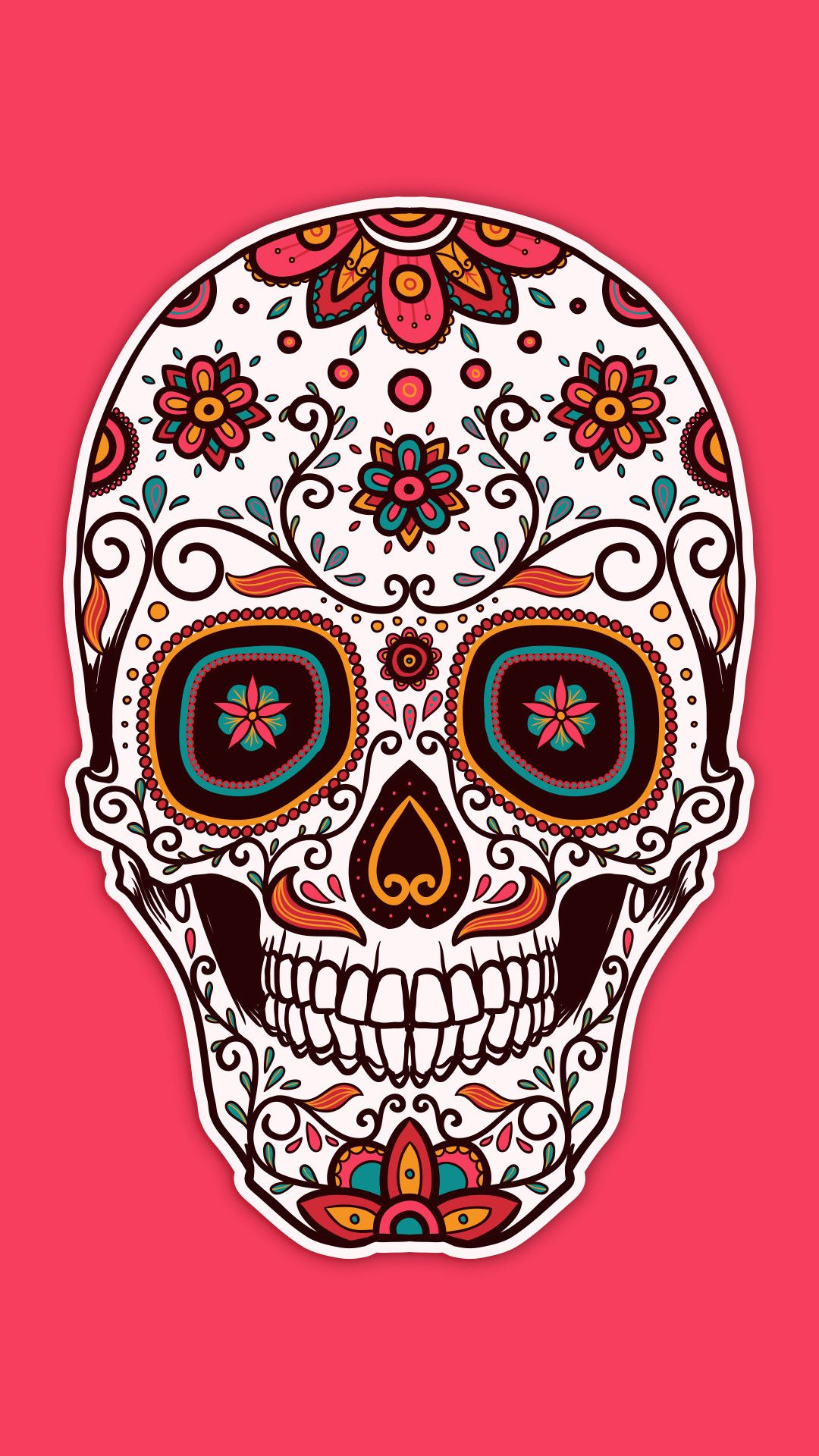 Trippy Sugar Background Picture In 2020 Sugar Skull Tattoos