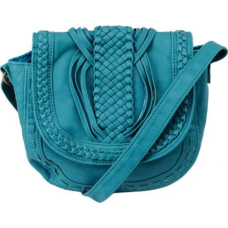 Heading to your girlfriends or to your favorite lunch spot the Little turquoise purse is super cute and great for just your essentials. The faux leather bag has an adjustable cross body shoulder straps, magnetic flap closure, full lining with zipper pocket, and awesome braided detailing on the front. The Marais Designs Little turquoise shoulder bag is a small bag with big looks.