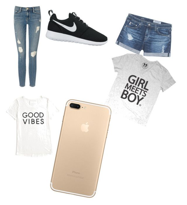 """""""mmmm"""" by jpoindexter123 ❤ liked on Polyvore featuring Frame Denim, AG Adriano Goldschmied, NIKE and Tommy Hilfiger"""