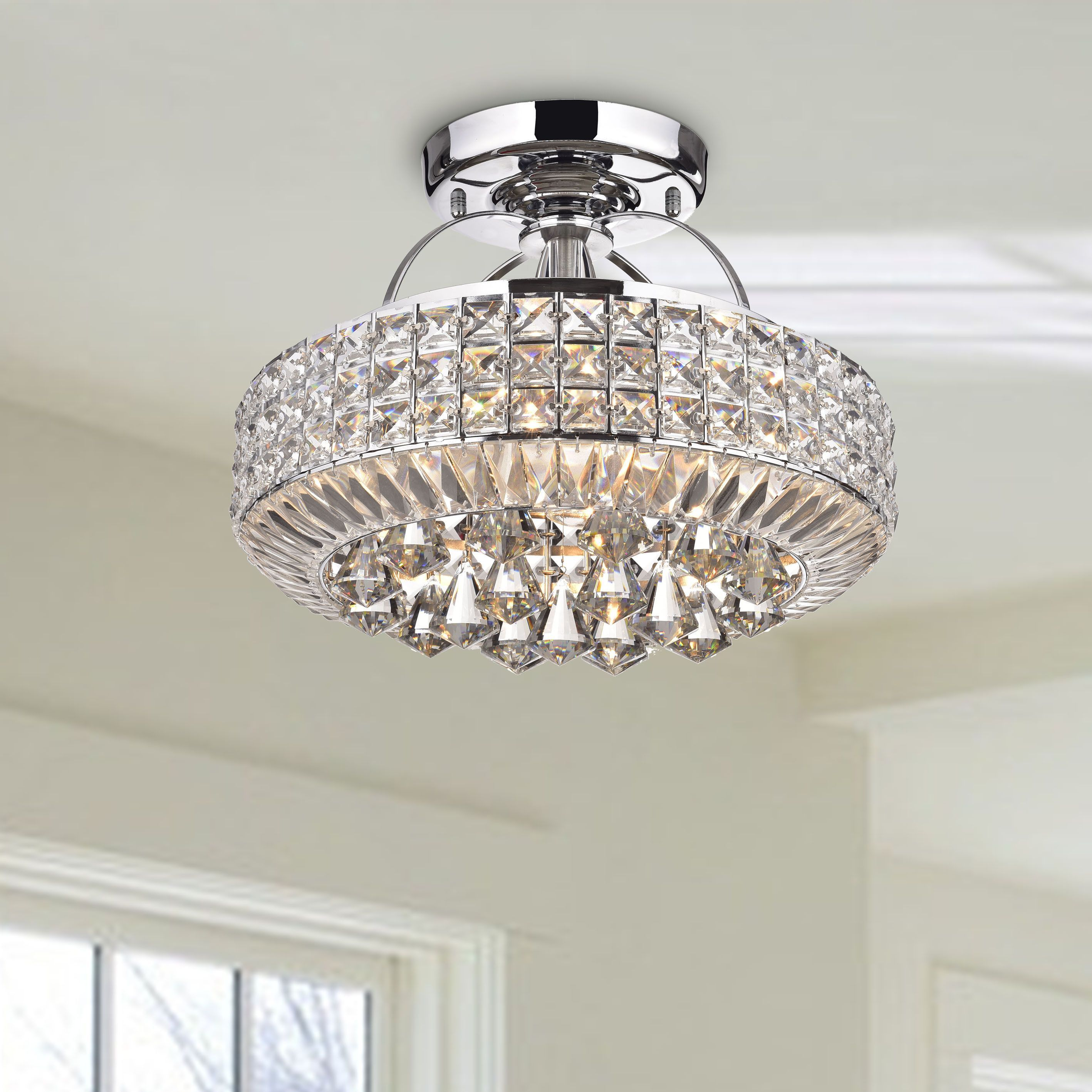 Overstock Com Online Shopping Bedding Furniture Electronics Jewelry Clothing More Flush Mount Chandelier Drum Shade Flush Mount Ceiling Lights