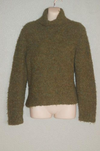 Peruvian Connection Turtleneck Sz S Sweater Boucle Green