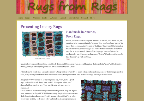 http://www.rugsfromrags.com via @url2pin.  Experimenting with a new pinning tool that captures webpage screen shots, not just images.  Love the palette at the bottom! (Of course I would... this is my site, after all.)