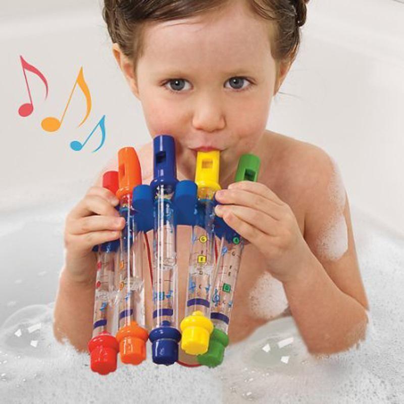 5pcs Water Flute Toy Kids Children Music Shower Bath Tub Tunes Colorful Toys UK