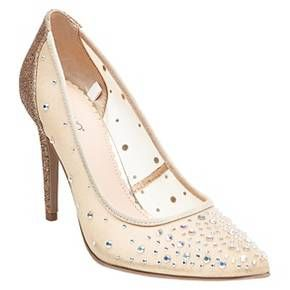 693d0423f3b Women s Eden Jeweled Illusion Pumps Silver 9 - Tevolio™   Target ...