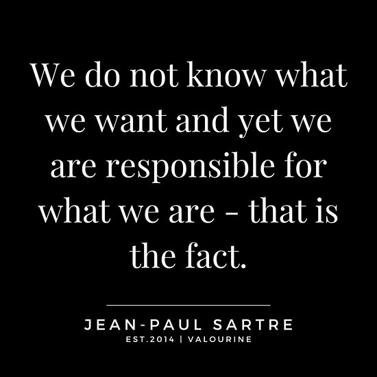 '36 | Jean-Paul Sartre Quotes | 190810' Poster by QuotesGalore