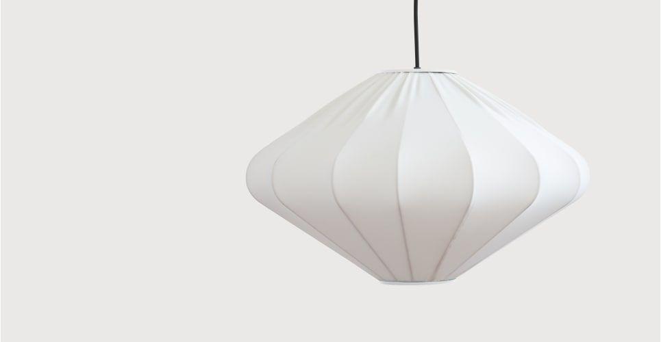 Mist Lampenschirm in Diamantenform, Weiß   made.com