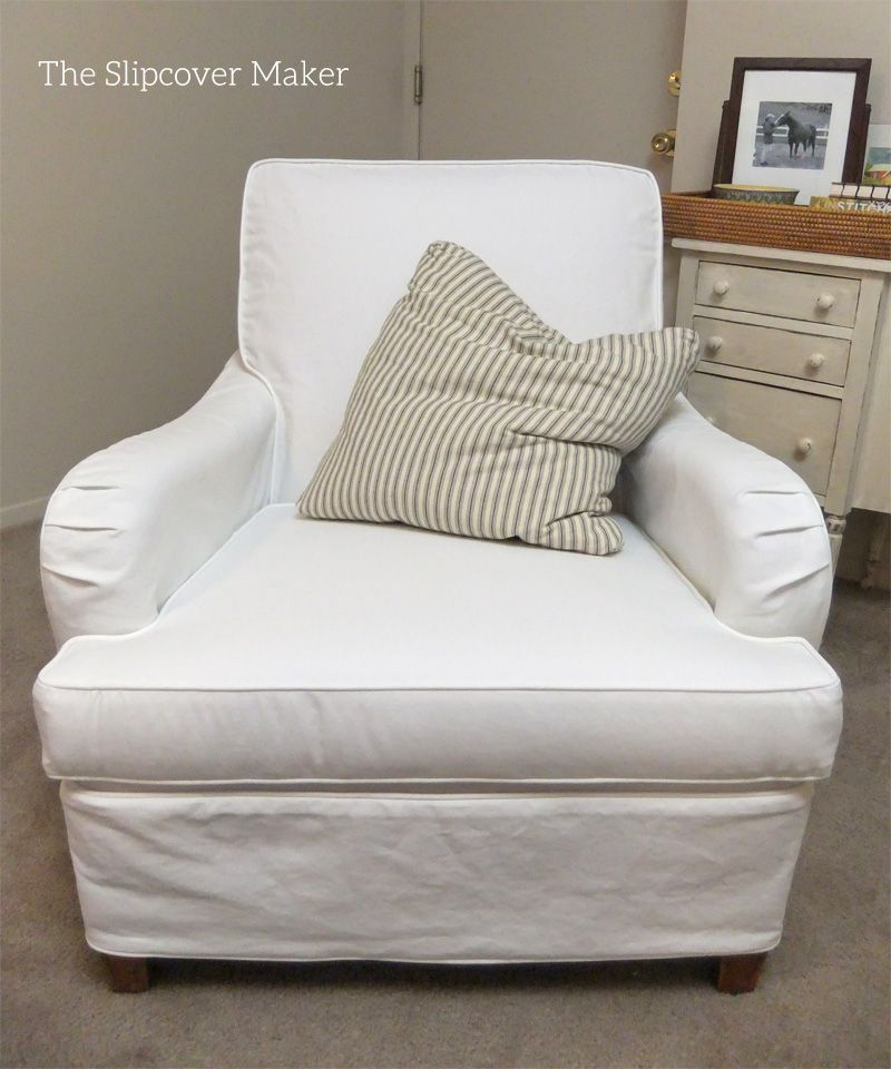 Casual, Washable Slipcover For English Rolled Arm Chair In White Carr Go  Canvas.