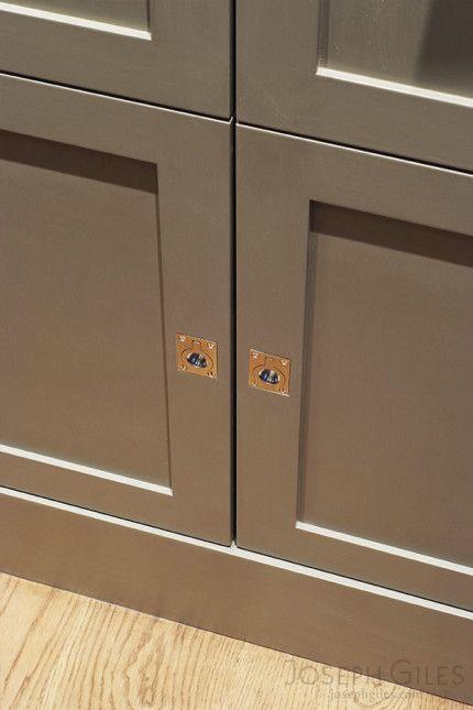 Joseph Giles Rectangular Flush Ring Cabinet Pulls In Satin Nickel