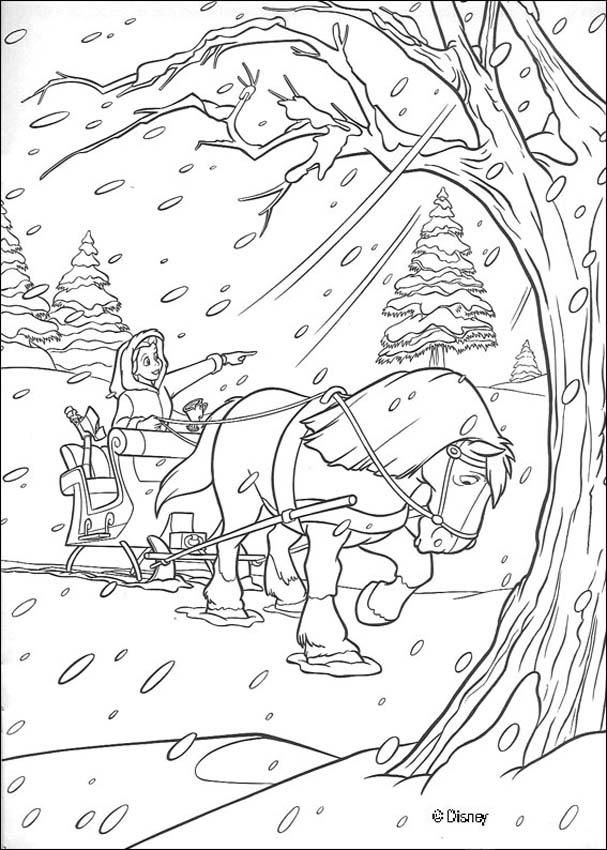Excelente Disney Princess Belle Christmas Para Colorear Ilustración ...