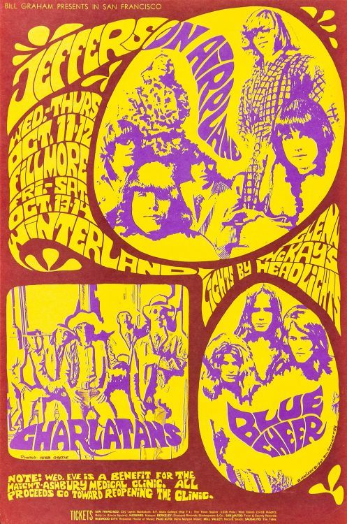 Jefferson Airplane, The Charlatans, Blue Cheer - Classic Fillmore, 1967
