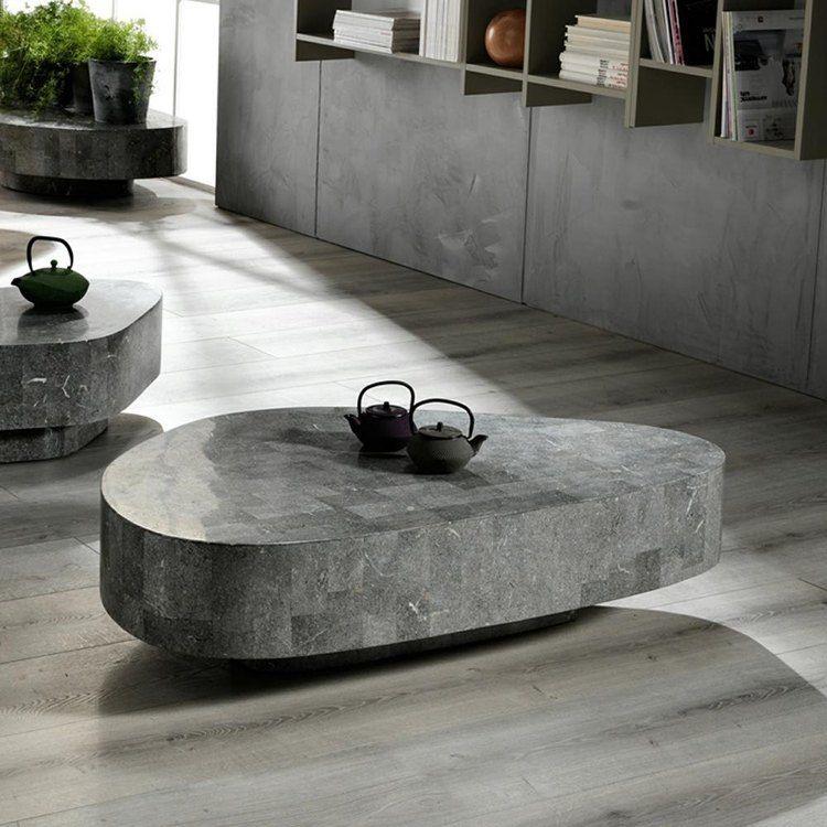 Table Basse En Pierre Naturelle Fossilisee 15 Designs Modernes Table Basse En Pierre Table Basse Design De Table