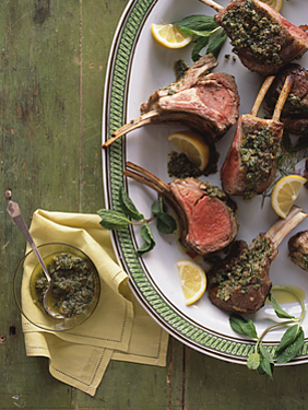Rack Of Lamb With Mint And Capers Recipe In 2020 Rack Of Lamb