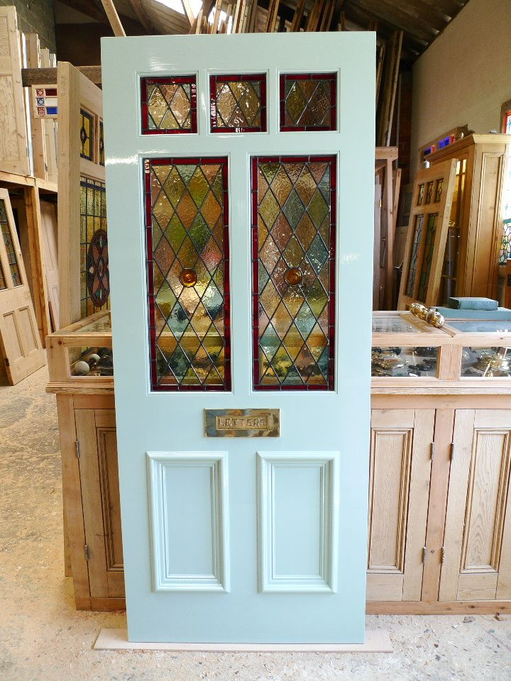 A Victorian Style Stained Glass Front Door Stained Glass Doors