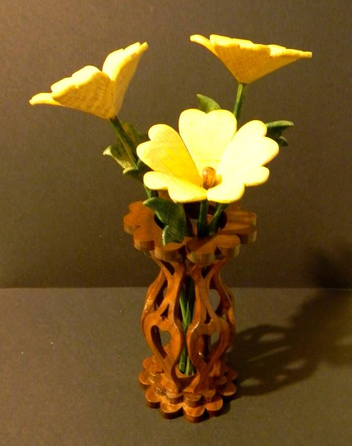 Just Me A New Love In Wood Scroll Saw Wooden Vase Wooden