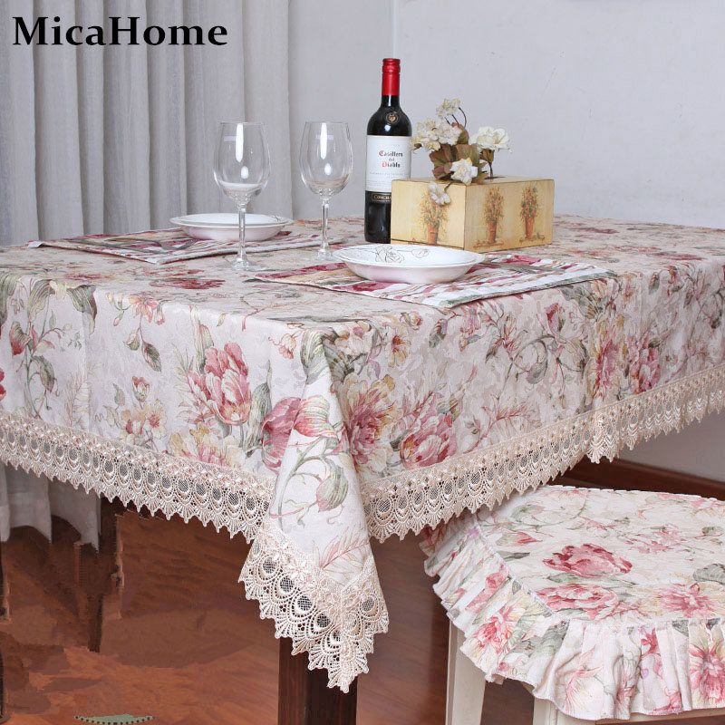Dining table cloth fabric fashion rustic tablecloth table cloth ...