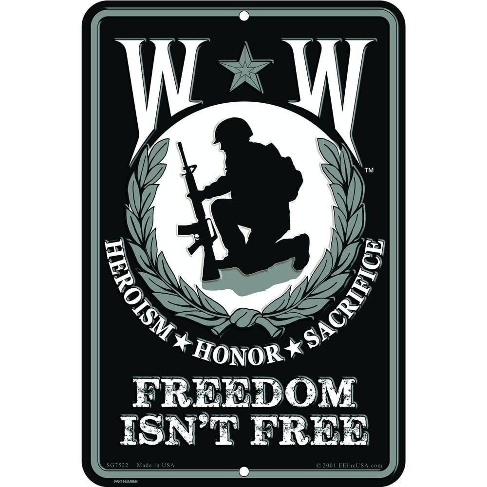 Wounded Warrior Sign Multicolor Aluminum Wounded Warrior Warrior Wounded Warrior Project