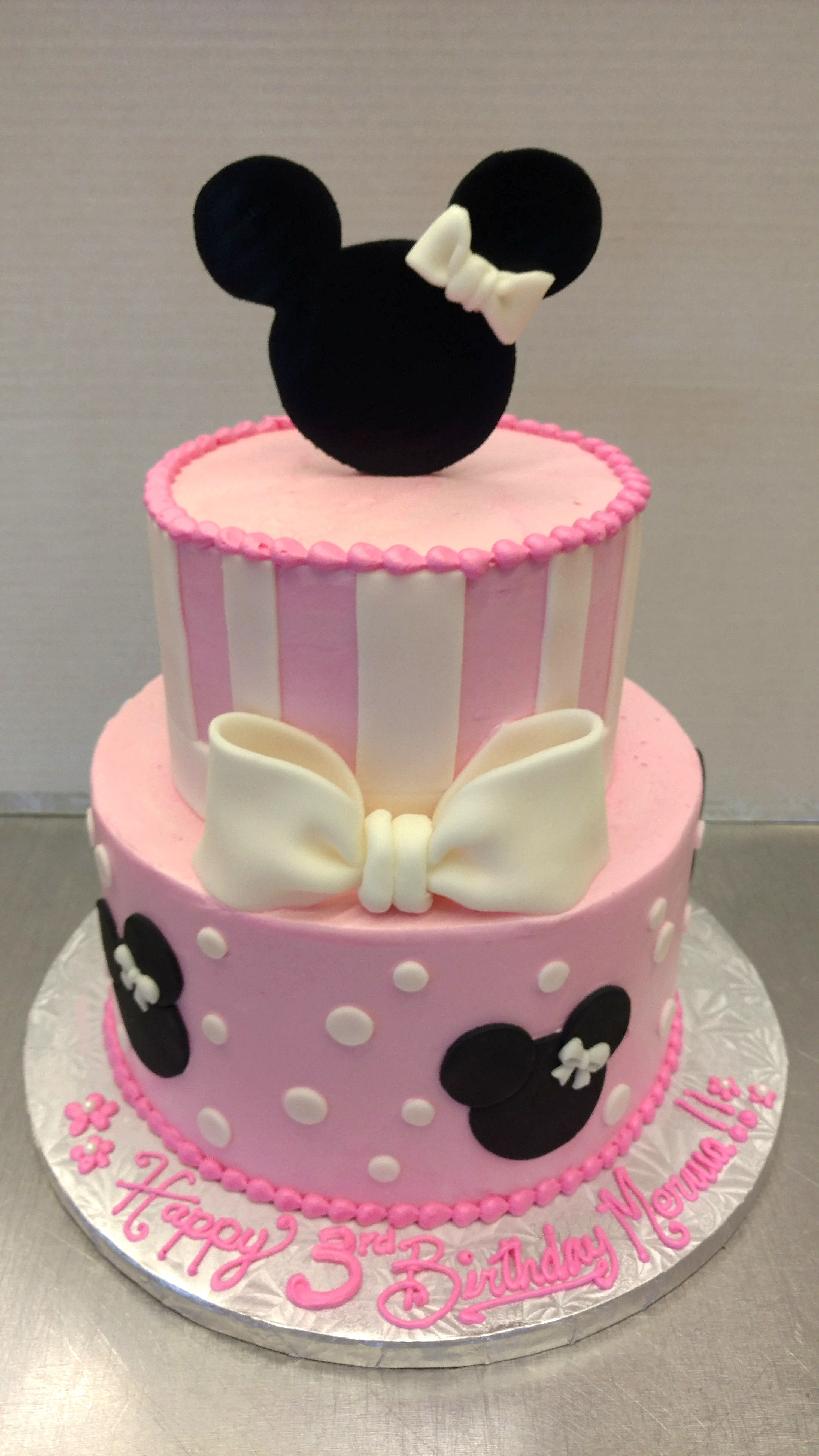 Minnie Mouse Themed Birthday Cake From Our European Bakery