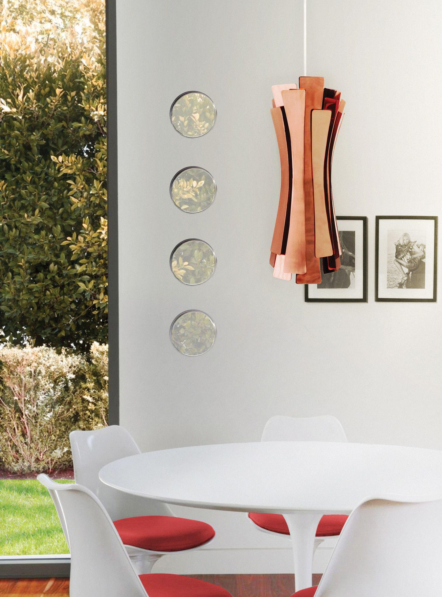 Etta pendant lq shop modern sculptural copper lighting gorgeous