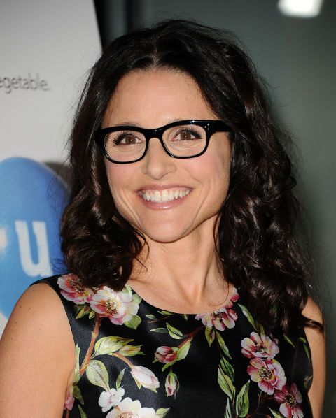 9d04ee923d0 Davis Vision - Julia Louis-Dreyfus  eyes smile through her chic frames.   eyeglasses