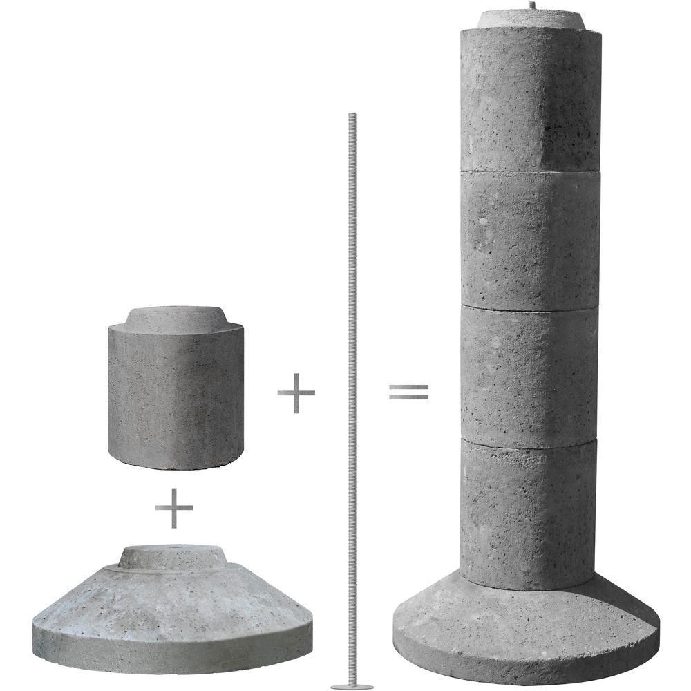Ez Tube 5 Section Stackable Concrete Pier Footing Eztube5