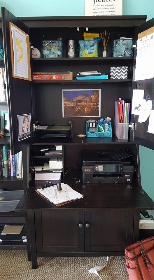 The unattractive yet necessary items for the running of a business hide within a secretary desk - Ikea bureau secretaire ...