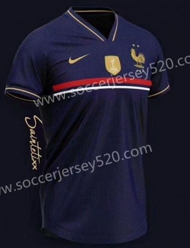 2019-2020 France Home Blue Thailand Soccer Jersey AAA-407