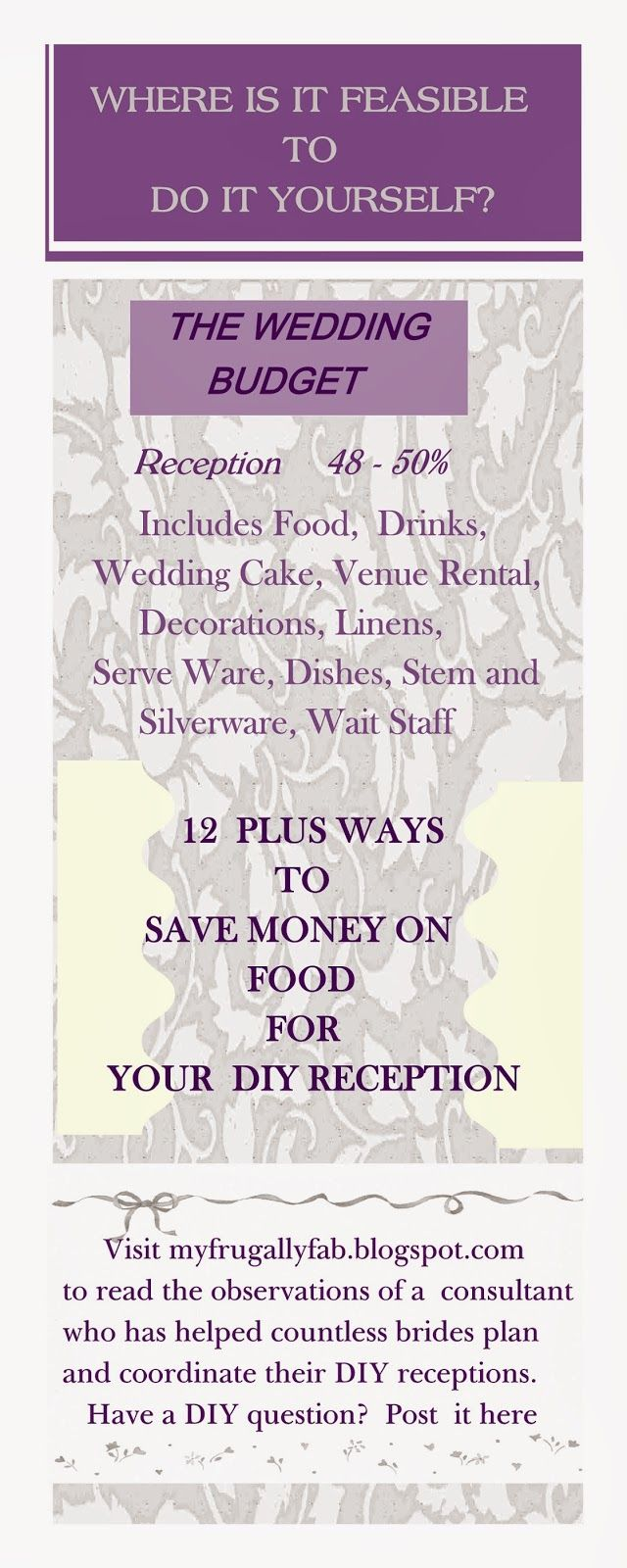 Frugally fabulous wedding receptions 12 plus ways to save money on frugally fabulous wedding receptions 12 plus ways to save money on food for a diy solutioingenieria Gallery