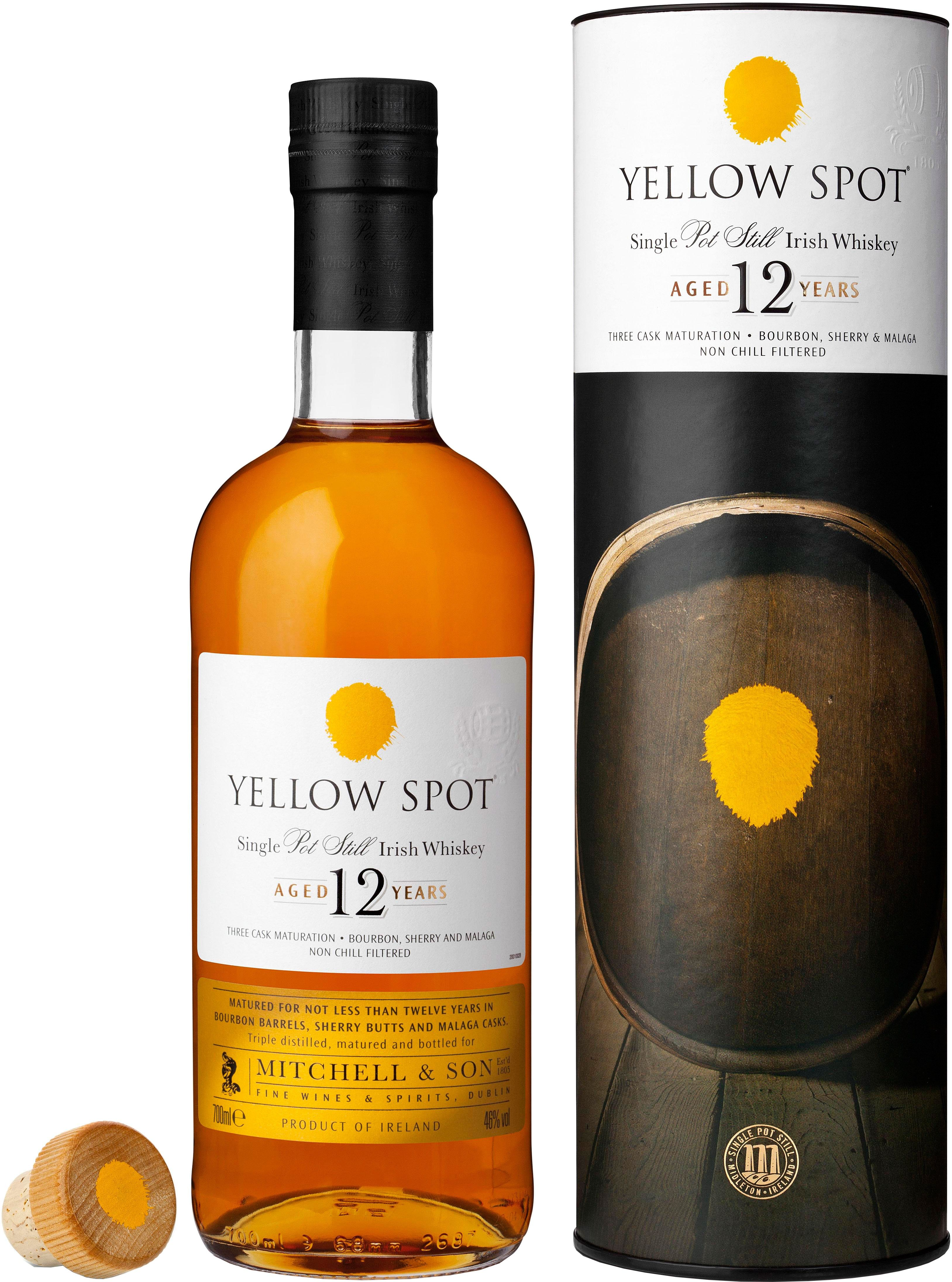 Yellow Spot 12 Year Old Single Pot Still Irish Whiskey. This bonded, single pot still Irish #whiskey is aged for twelve years and is one of the most eagerly-anticipated releases of 2015. | @Caskers