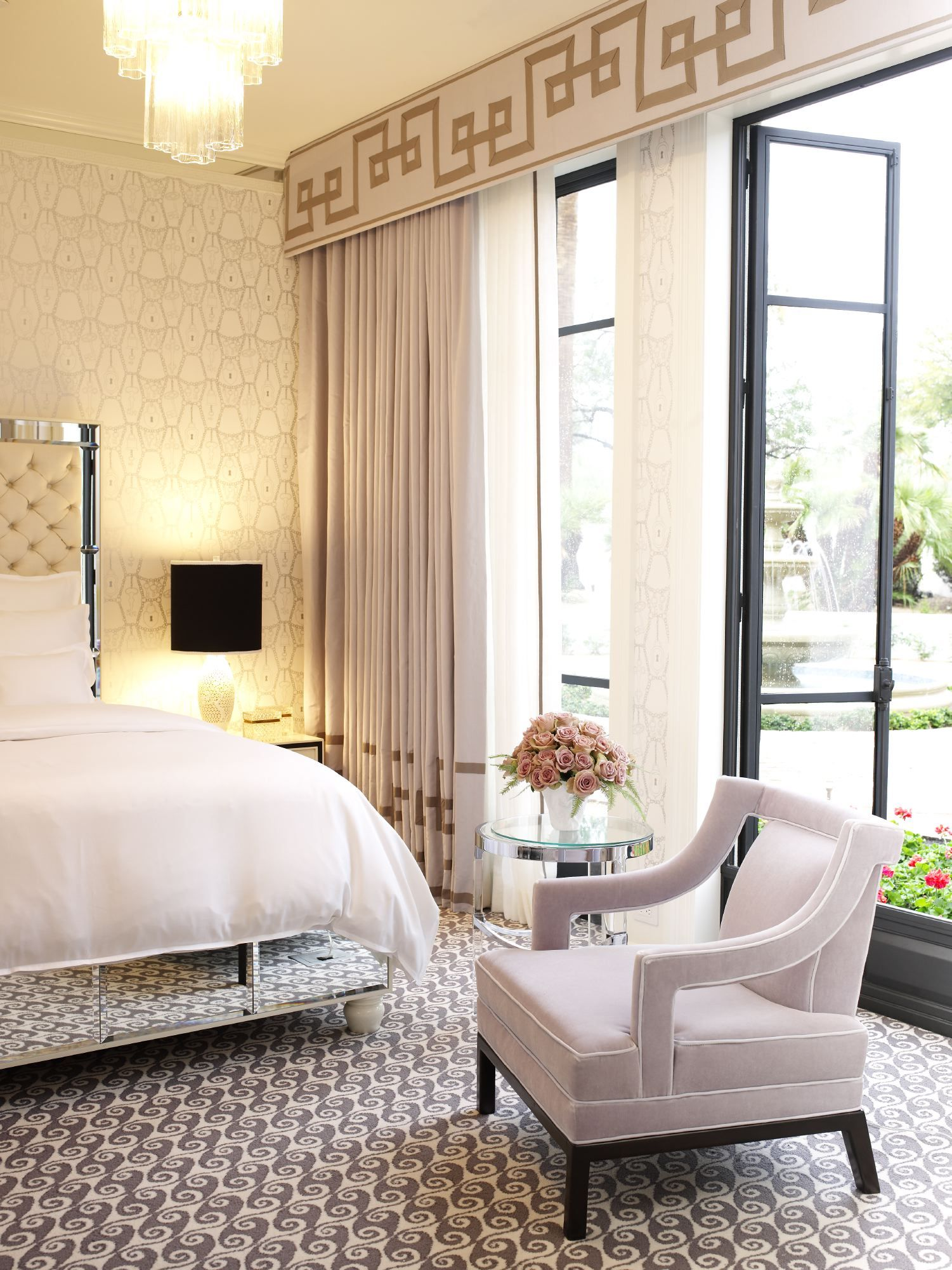Glamorous Hollywood Regency Bedroom By Jamie Herzlinger