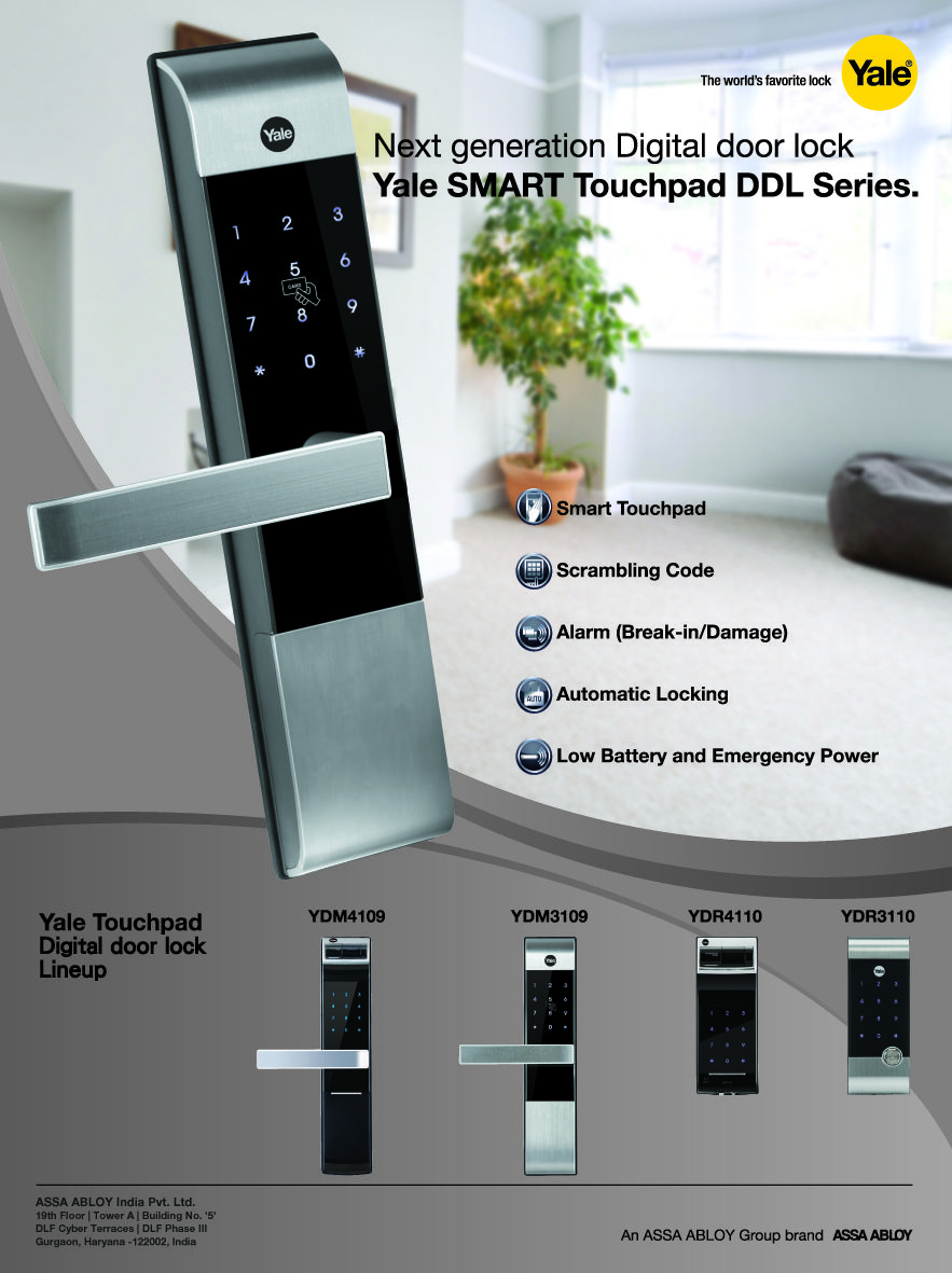 Yale Smart Touchpad Digital Door Lock Collection Yale
