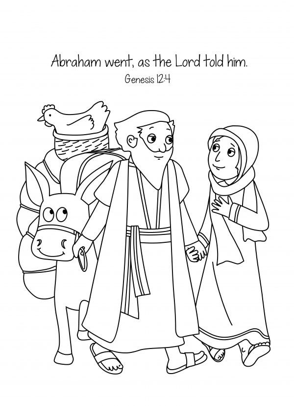 Free Bible Coloring Page Abraham And Sara A New Home Abraham Bible Crafts Bible Coloring Pages Bible Coloring