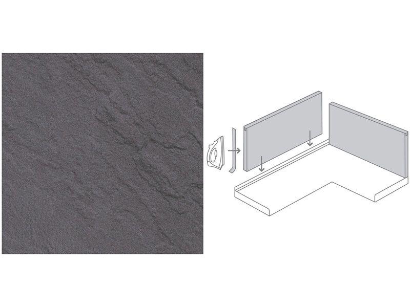 Küchenrückwand 296 cm x 58,5 cm Schiefer Steindekor (SC 134 - badezimmer farbe obi