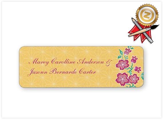 Today's Best Award from Zazzle: Sakura Floral Batik Bride & Groom Sticker  December 25, 2012
