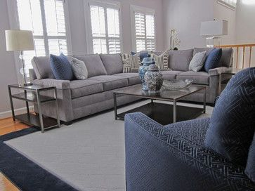 Classic Gray And Navy Family Room Blue Living Room Decor Living Room Decor Gray Navy Living Room Decor